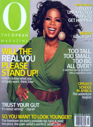 O the Oprah Magazine cadeau
