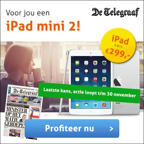 iPad cadeau bij Telegraaf