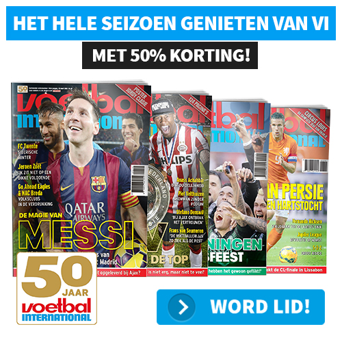 Voetbal international met 50 procent korting