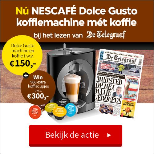 Ontvang nu bij een jaarabonnement op De Telegraaf een NESCAFE Dolce Gusto koffiemachine
