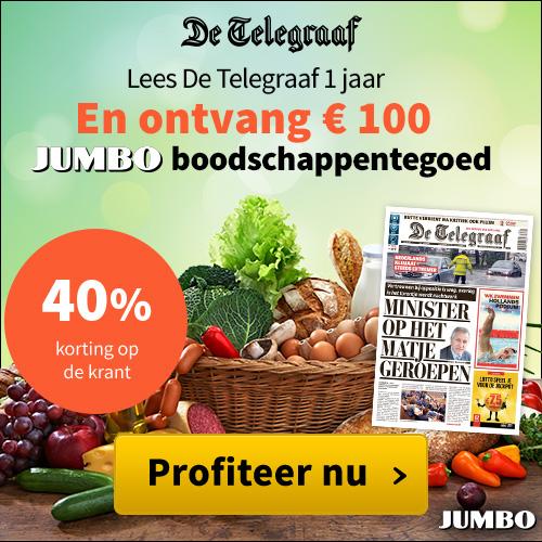 Gratis E 100,- Jumbo boodschappen tegoed bij de Telegraaf
