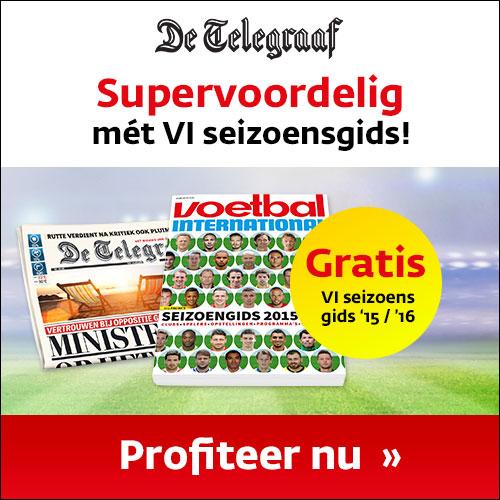 Telegraaf abo met ELF Voetbalgids voor het naderende voetbalseizoen 2016