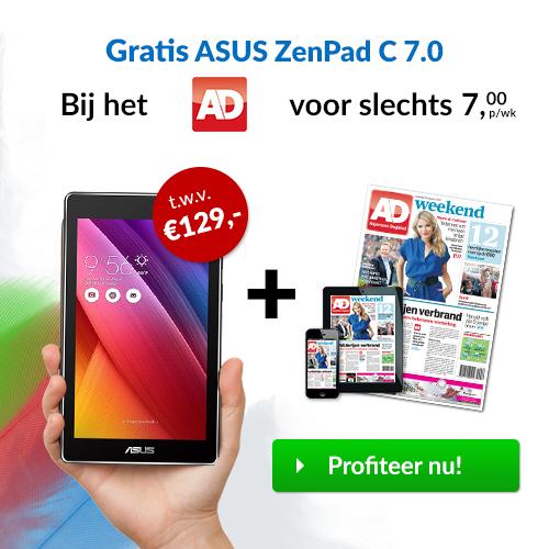 Het AD met 46% korting + Gratis Asus ZenPad C7.0