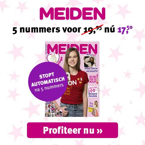 Meiden magazine | Nu 5 nummers van €19.95 voor €14.95