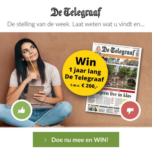 Win 1 Jaar de Telegraaf